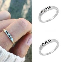 Europe And America Popular MOM and DAD Ring 925 Sterling Silver Ring Mothers Day gift Fashion Jewelry(China)