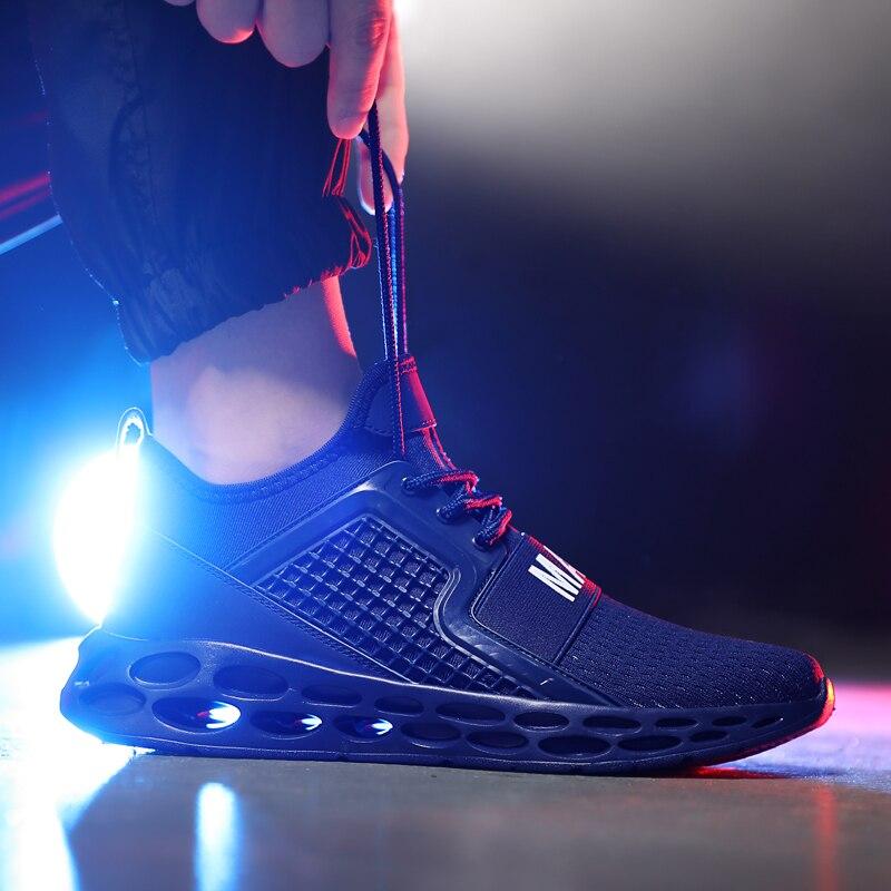 Homme Chaussures De Course Libre Transformer Knit Fashion Baskets Chaussures De Marche