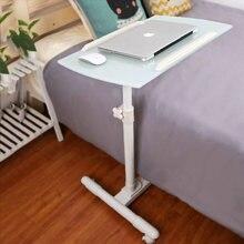 Table de chevet rotative et pliable, meuble de chambre à coucher, bureau d'ordinateur réglable, Mobile, levage, ordinateur Portable