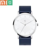 Original xiaomi mijia relógio de quartzo/movimento importado/caixa em aço inoxidável/pulseira de couro/relógio masculino e feminino