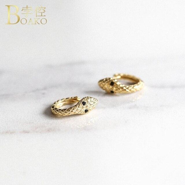 Real 925 Silver Earrings For Women Gold Snake Earrings Gothic Girl Ear Bone Piercing Earring Punk.jpg 640x640 - Real 925 Silver Earrings For Women Gold Snake Earrings Gothic Girl Ear Bone Piercing Earring Punk Female Statement aretes K5