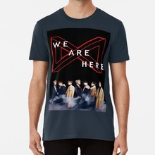 MONSTA X KAMI DI SINI TUR DUNIA GAMBAR T shirt monstax monsta x mx mxinatl monstainatl worldtour kpop wearehere(China)