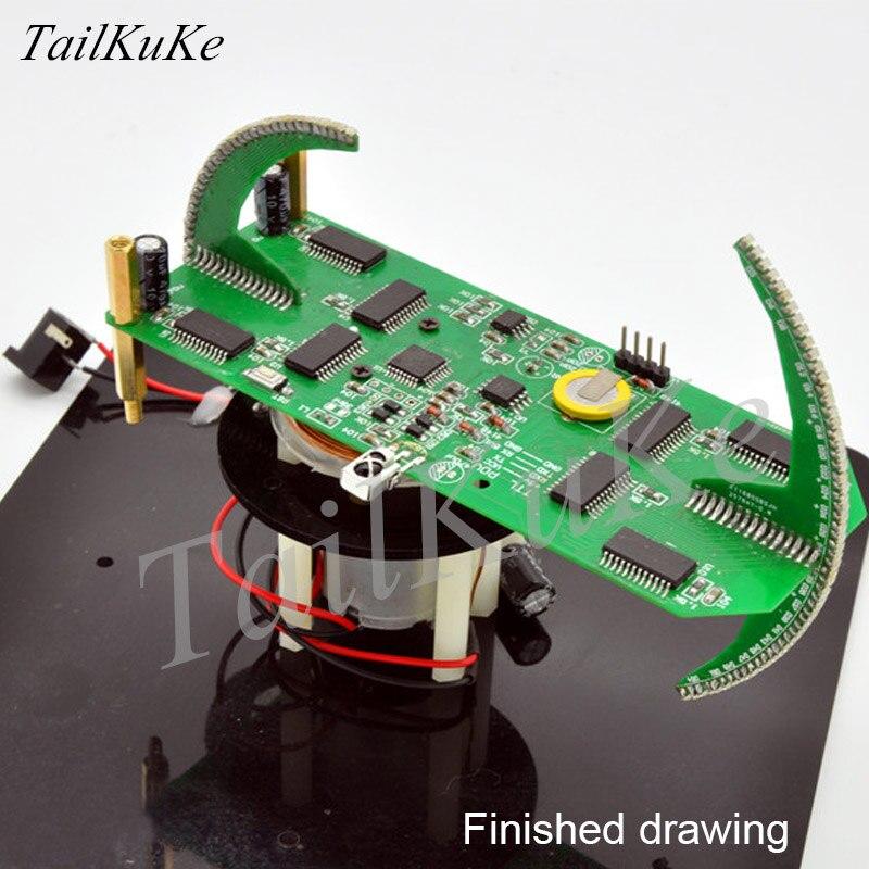 Double boule Rotation LED nouvelle Suite POV de pièces d'horloge créatives Kit de formation électronique affichage de LED