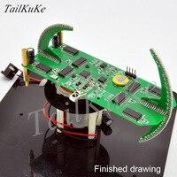 Rotação de bola dupla led nova pov conjunto de peças relógio criativo kit treinamento eletrônico display led|suite| |  -