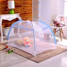 Baby Bed Mosquito Net Foldable Summer Crib Net Toddler Infant Travel Portable Baby Room Mesh Cloth Mosquito Net 0-2 Years(China)