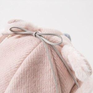 Image 2 - DB11825 デイブベラ冬女の赤ちゃん帽子キャップ子供ピンクブティック