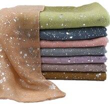 Bufanda de viscosa con purpurina degradada para hiyab, pañuelo musulmán de algodón, cinta para la cabeza, 16 colores, 180x90cm