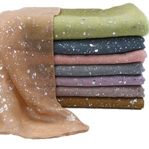 Image 1 - Ombre glitter wiskoza hidżab szalik szale gradientowe bawełniane szale muzułmańskie wrap pałąk 16 kolorowe szaliki/szalik 180*90cm