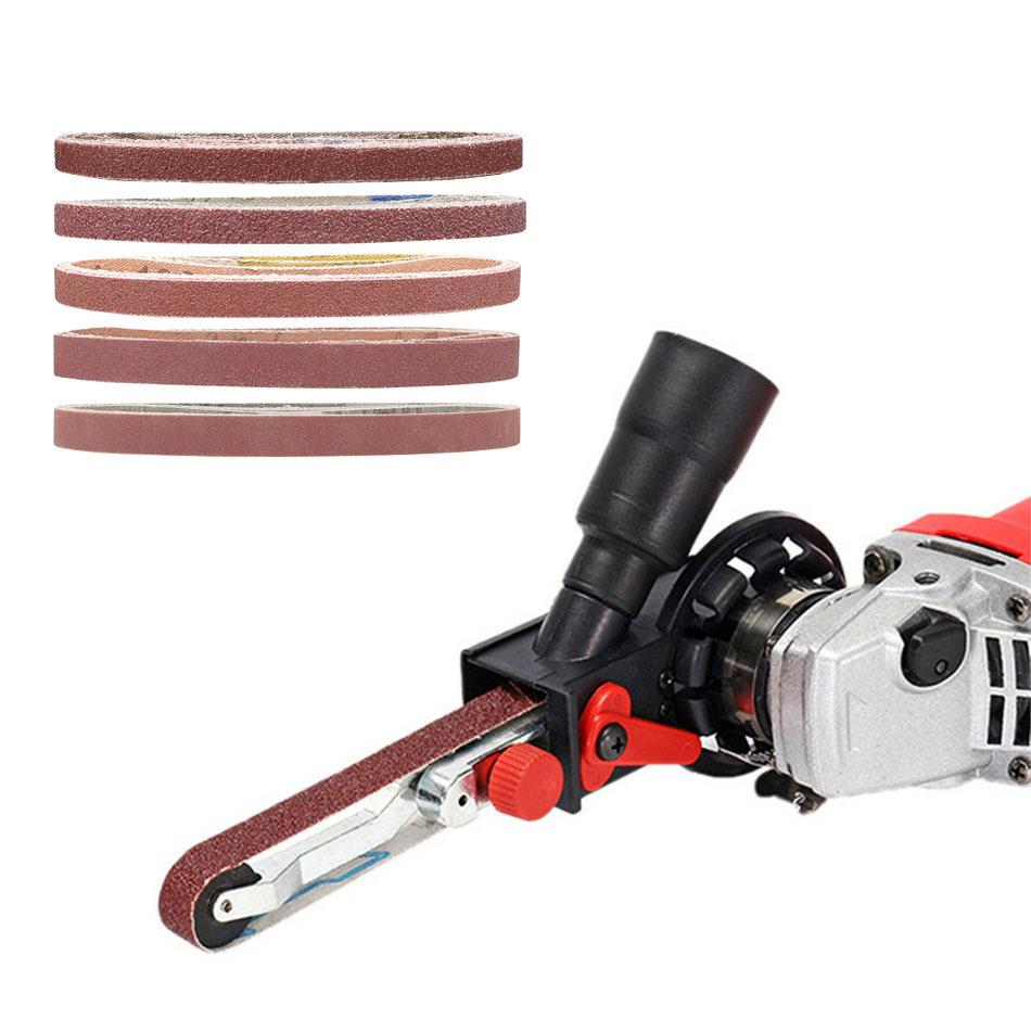 10 Pcs 330*10mm Sanding Belts P40 - P600 Abrasive Sanding Screen Band For Wood Soft Metal Grinding Polishing