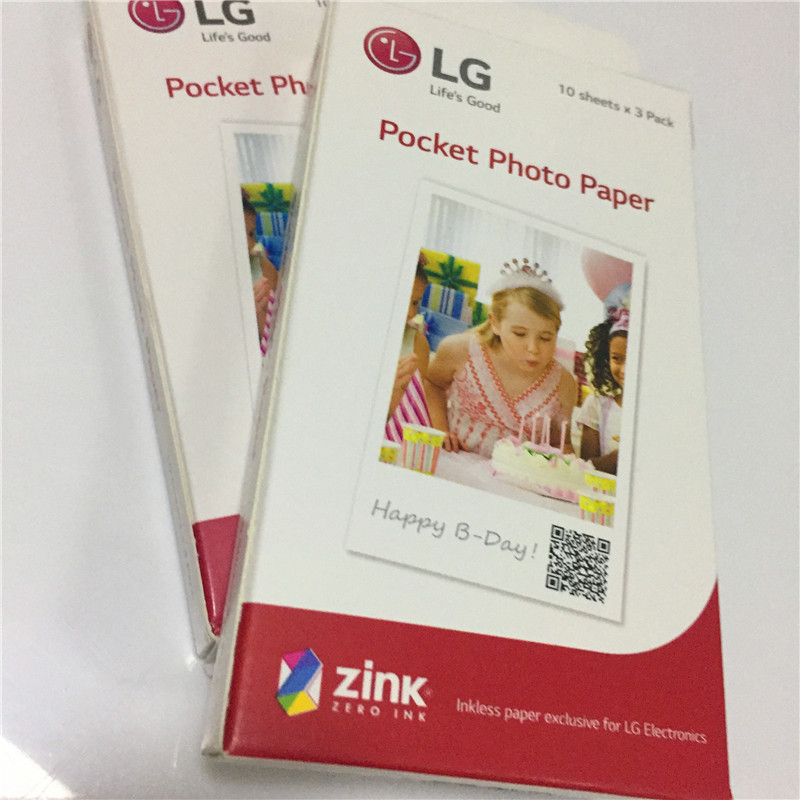Special sales 60 sheets (2box) photographic Zink PS2203 Smart Mobile Printer for LG PD269 PD251 PD261 PD233 PD239 photo Paper image