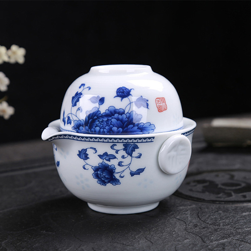 ANCHENG Tea Sets Kung Fu Ceramics Tea Set 1 Pot 1 Cup Tea Pots High Quality Elegant Gaiwan Beautiful And Easy Tea Pot Kettle