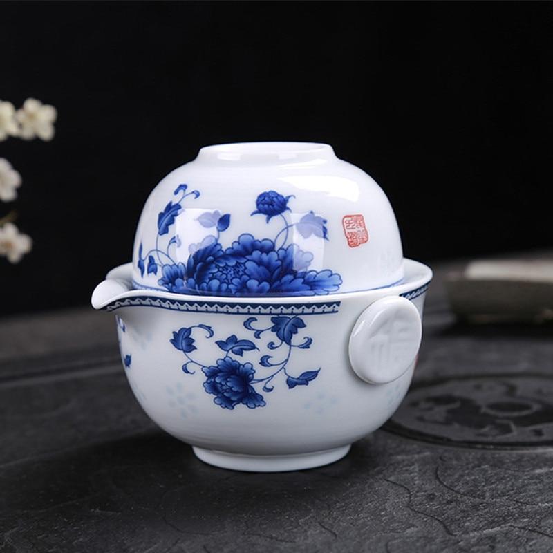 ANCHENG Tea Sets Kung Fu Ceramics Tea Set 1 Pot 1 Cup Tea Pots High Quality Elegant Gaiwan Beautiful And Easy Tea Pot Kettle
