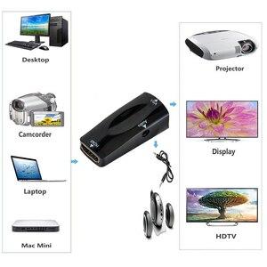 Image 5 - Hdmi メス vga にミニアダプタ 1080 1080p fhd とオーディオケーブル HDMI2VGA コンバータ pc のラップトップコンピュータ用のディスプレイプロジェクター