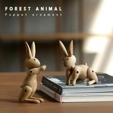 The Danish Rabbit Puppet Nordic Wood Home Furnishing Ornaments Wholesale Custom Soft Decorations Sample Room Wooden Decor