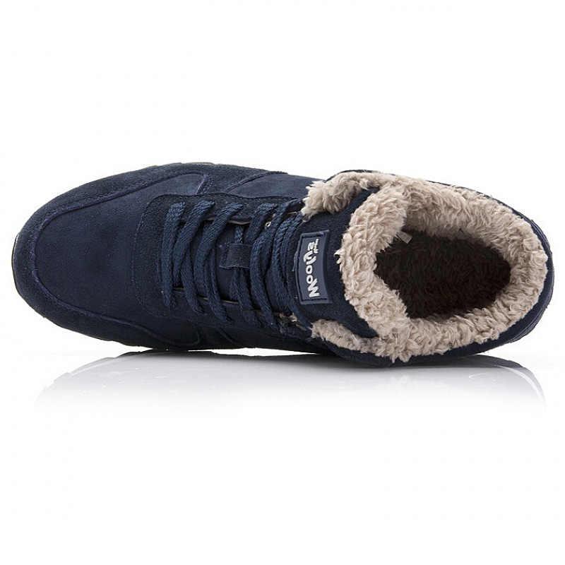 Men Boots Fashion Men Winter Shoes Plus Size Winter Botas Hombre Warm Fur Men Shoes Snow Boots For Men Booties Winter Sneakers