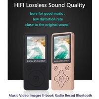 Reproductor de música MP3 sin pérdidas, tarjeta TF, Radio FM, vídeo, altavoces deportivos de música HIFI, 32GB, Delgado, Bluetooth