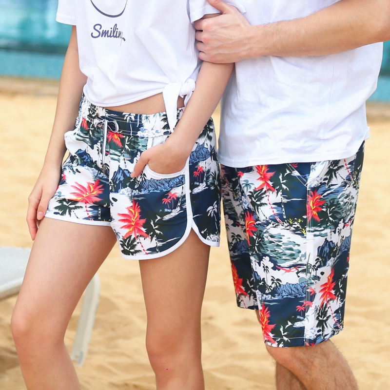Peach Skin Quick-Dry Beach Shorts Summer Seaside Holiday Quick-Dry Loose And Plus-sized Shorts Men And Women Large Trunks