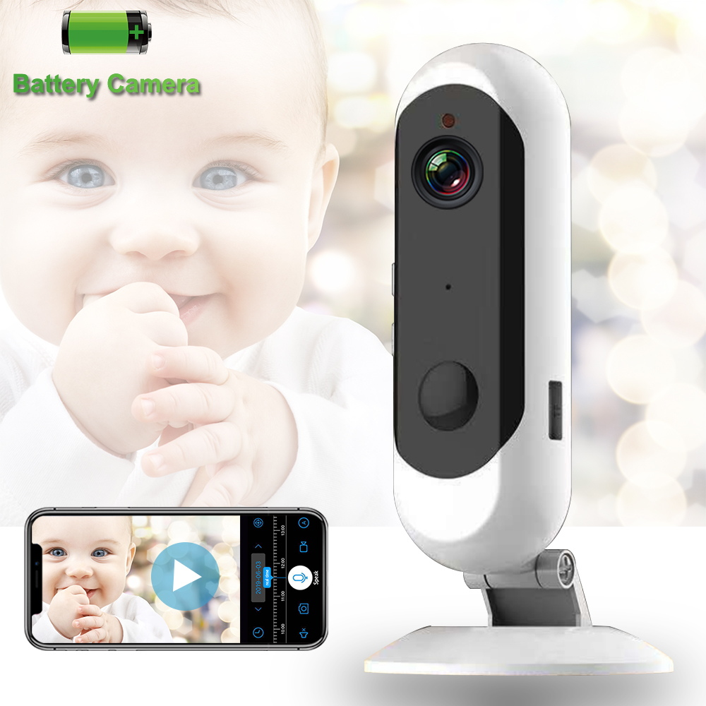 Wireless Battery Baby Monitor Low Power Endurance WiFi Camera 1080P Two Way Audio Night Vision Portable Baby Sleep Monitor image