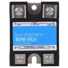 цена на Single Phase Solid State Relay SSR 100VD DC Control High Temperature Resistance Relay