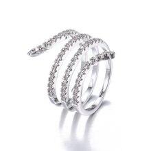 Bettyue Новое модное посеребренное кольцо спиральной формы необычное