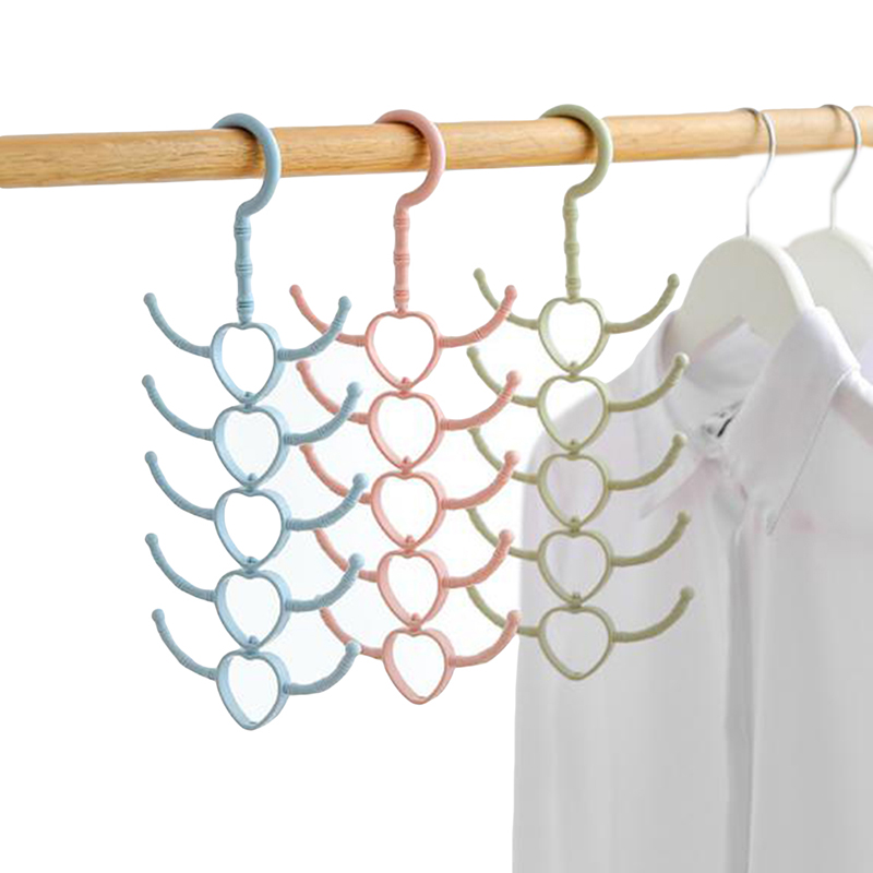 Multipurpose <font><b>360</b></font> degree Rotated Clothes Hanger Tie Scarf Belt Storage rack <font><b>shoes</b></font> drying rack multifunctional storage hanger 1pc image