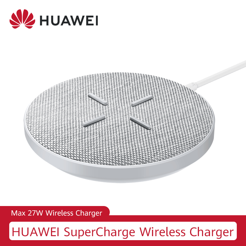 Cargador inalámbrico HUAWEI CP61 27W Max Qi, cargador inalámbrico de Super carga para Huawei P30 Pro Mate 20 RS Pro iPhone 11