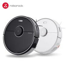 Roborock s5max robô aspirador de pó, aspirador de pó inteligente global, controle por aplicativo, sem fio ou automático, para casa