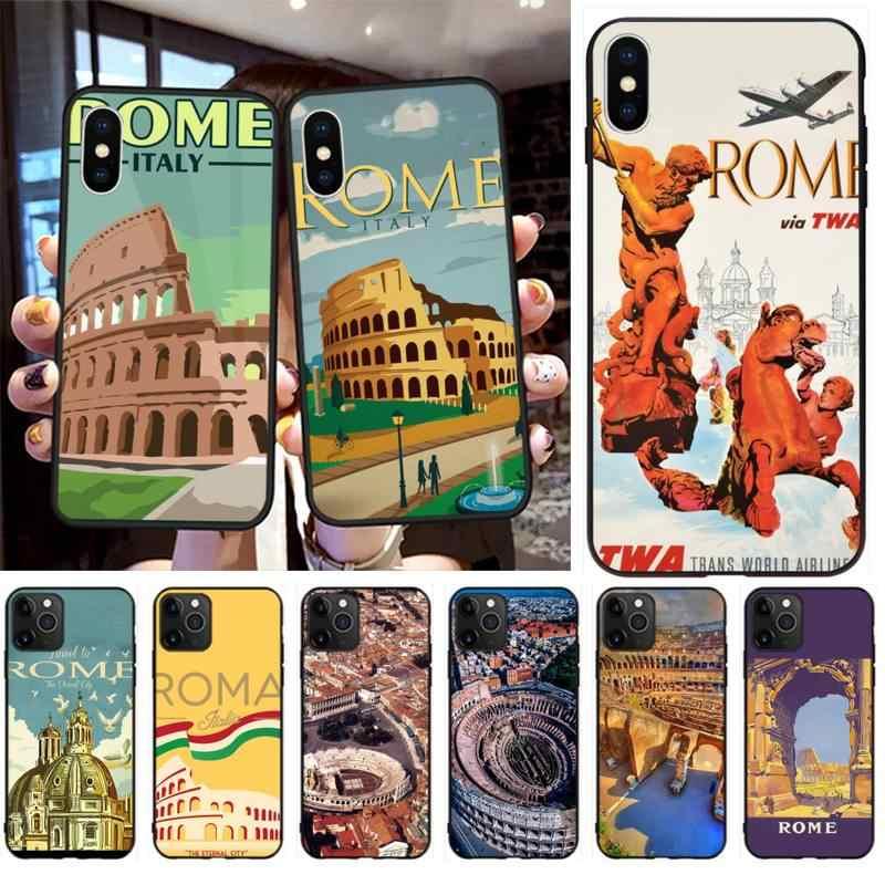 Colosseum – coque de téléphone Vintage Rome italie, étui pour iPhone 11 pro XS MAX 8 7 6 6S Plus X 5s SE 2020 XR