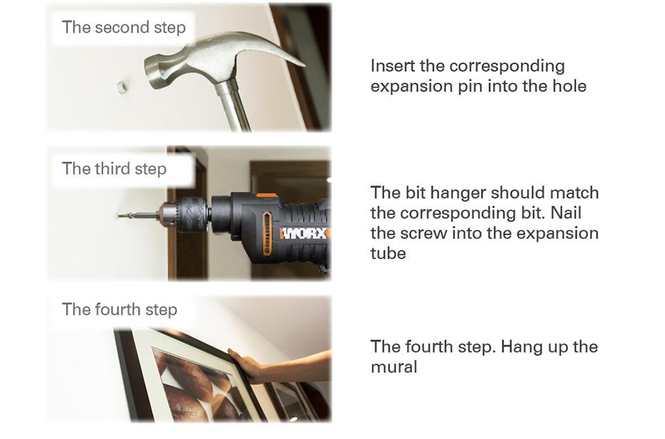 WORX 600W Impact Drill Electric Tools Screwdriver DIY steps