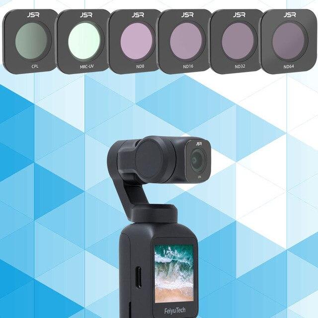 Için FEIYU TECH cep MCUV CPL NDPL ND8/16/32 ND64 gece nötr yoğunluklu Lens filtre seti için FEIYUTECH Gimbal kamera aksesuarları
