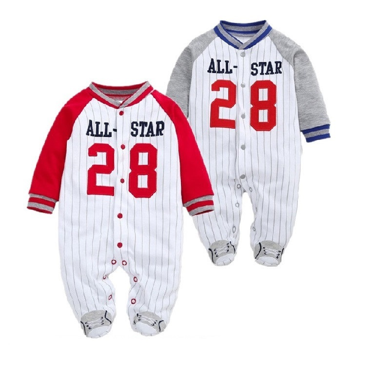 COSPOT Newborn Footies Autumn Striped Long Sleeved Footed Jumpsuit Pajamas Baby Boys Boy Bebes Clothes Body Suit Outfit 10D