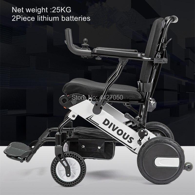 Лидер продаж 2020, складная инвалидная коляска с бесщеточным двигателем 300 Вт * 2, электрическая легкая, большая емкость 120 кг