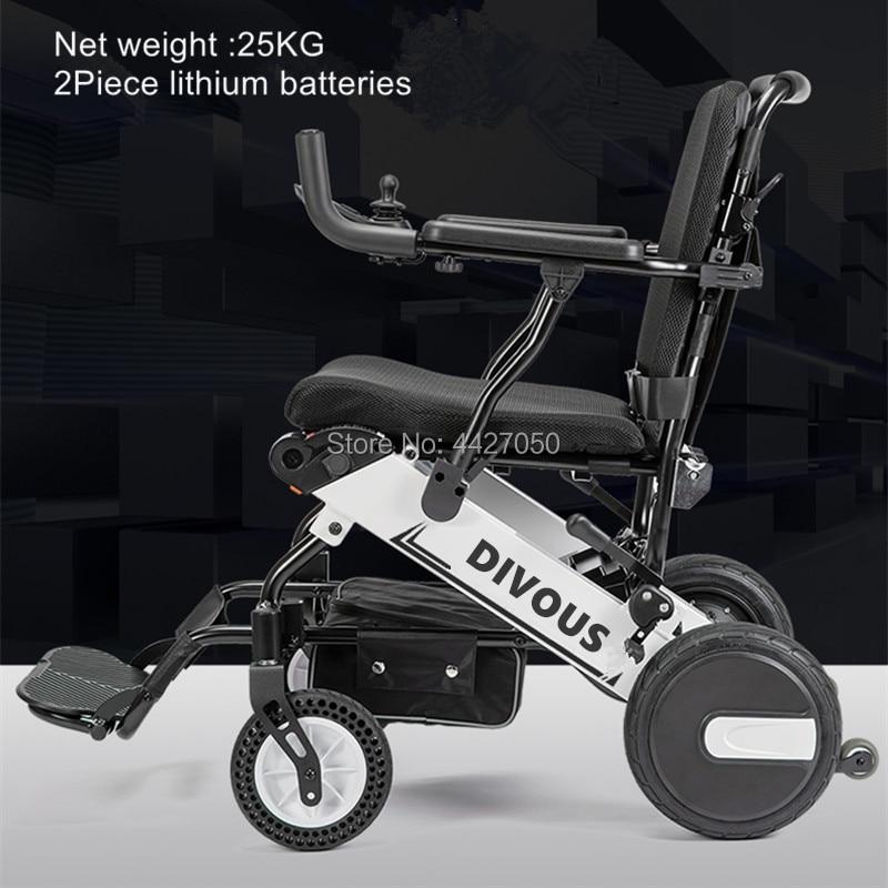 Двойной мотор литиевая батарея интеллигентая (ый) складное Электрическое Кресло-коляска Грузоподъемность 120 кг