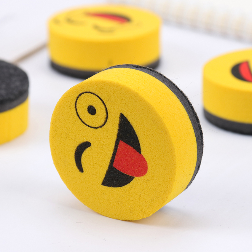 1PC Cute Yellow Whiteboard Wipe Magnetic Board Erasers Wipe Dry School Blackboard Marker Sponge Cleaner