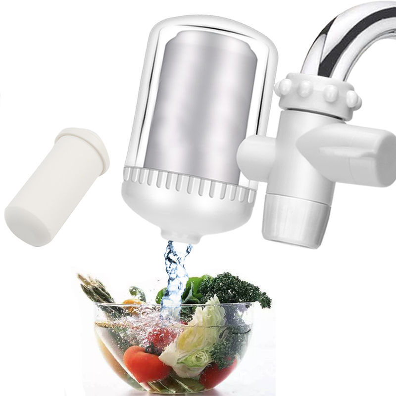 Tap Water Purifier Kitchen Faucet Washable Ceramic Percolator Clean Water Filter Filtro Rust Bacteria Removal Replacement Filter