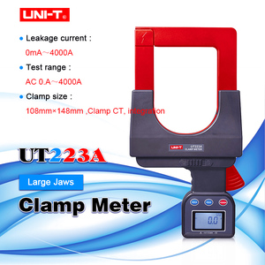 UNI T UT223A large caliber leakage clamp ammeter  4000A AC clamp meter data storage RS 232 data transmission LCD backlight|Multimeters| |  -