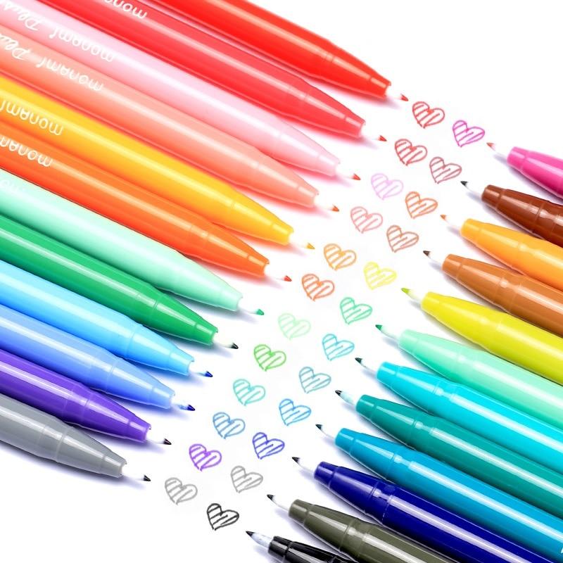Купить с кэшбэком Monami Gel Pen Set 12 24 36 Water Color Micron Fiber Pens Writing Drawing Sketch Stationery Office School Art Supplies A6261