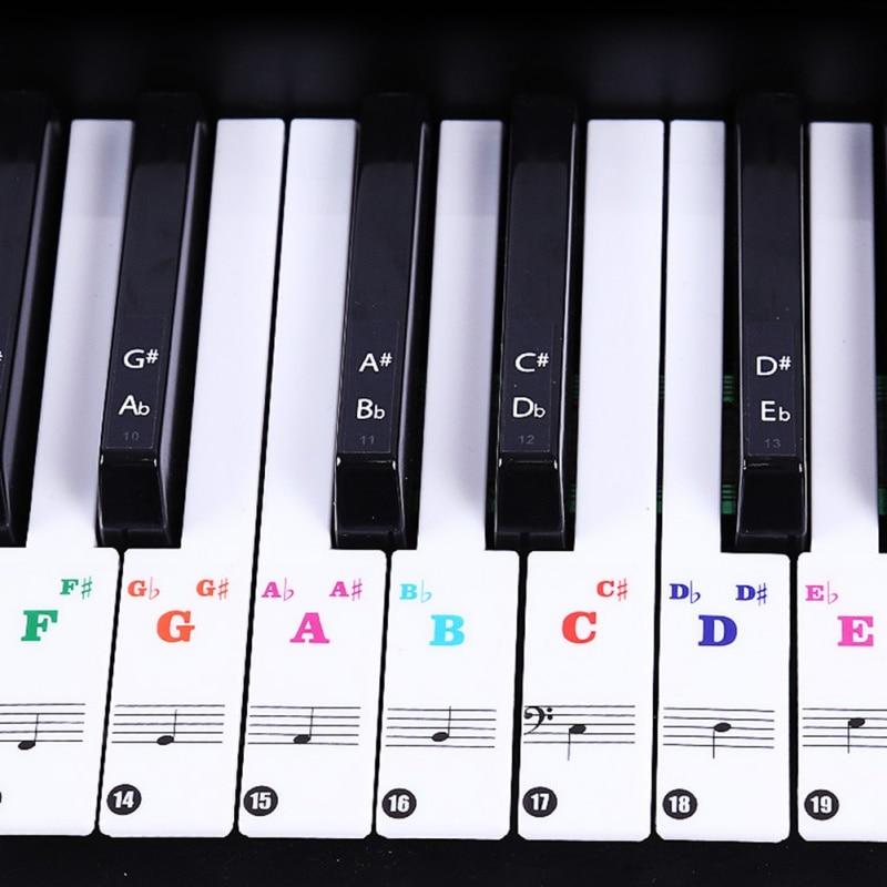 Transparan Piano Keyboard Sticker 61 88 Kunci Keyboard Elektronik 88 Kunci Piano Mencegah Catatan Stiker Untuk Tombol Piano Piano Aliexpress