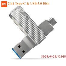 Youpin Jessis U Disk grabadora USB 128 de 32GB, 64GB y 3,0 GB, tipo c unidad Flash de interfaz Dual, disco de memoria de OTG para teléfono, Tablet y PC