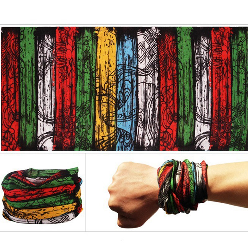Outdoor Windproof Mask Scarf wristband Climbing Hiking Cycling Skiing Fishing Headwear Camouflage Bandana Neck Scarves Wraps N
