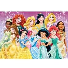 Disney 5d diy pintura diamante dos desenhos animados princesa diamante bordado completo redondo mosaico de diamante decoração para casa