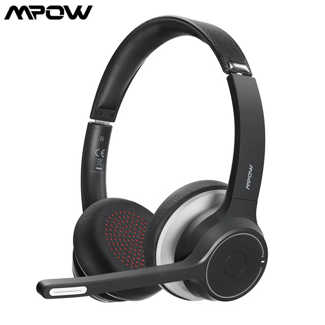 HC5 Wireless Bluetooth 5.0 Headphones With Mic CVC 8.0 Noise Cancelling Office Headset 22 Hours Life Earphones PC/Phone 1
