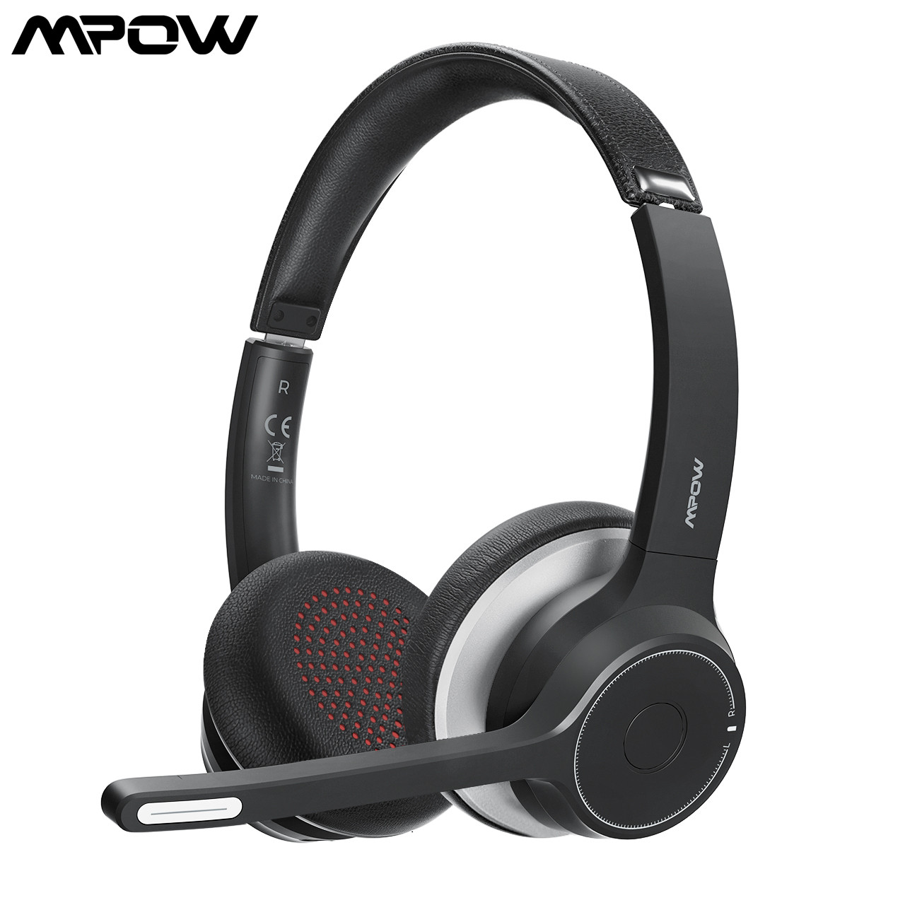 MPOW HC5 Wireless Bluetooth 5 0 Headphones With Mic CVC 8 0 Noise Cancelling Office Headset 22 Hours Life Earphones PC Phone