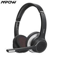 MPOW HC5 cuffie Wireless Bluetooth 5.0 con microfono CVC 8.0 cuffie da ufficio con cancellazione del rumore 22 ore di vita auricolari PC/telefono