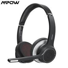 Mpow hc5 sem fio bluetooth 5.0 fones de ouvido com microfone cvc 8.0 cancelamento de ruído escritório fone de ouvido 22 horas de vida fones pc/telefone