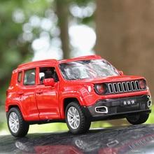 1:32 spielzeug Auto für Jeep Renegad Metall Spielzeug Legierung Auto Gießt Druck & Spielzeug Fahrzeuge Auto Modell Miniatur Skala Modell Auto spielzeug für Kinder