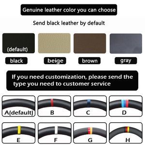 Image 3 - Handsewing Black Genuine Leather Steering Wheel Covers For Honda Accord 10 2018 2019 Insight 2019