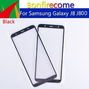 Image 4 - 10pcs Für Galaxy J8 2018 J810 J810F J810DS On8 touchscreen Front Outer Glas Für J8 2018 J800 TouchScreen objektiv Für J8 plus J805