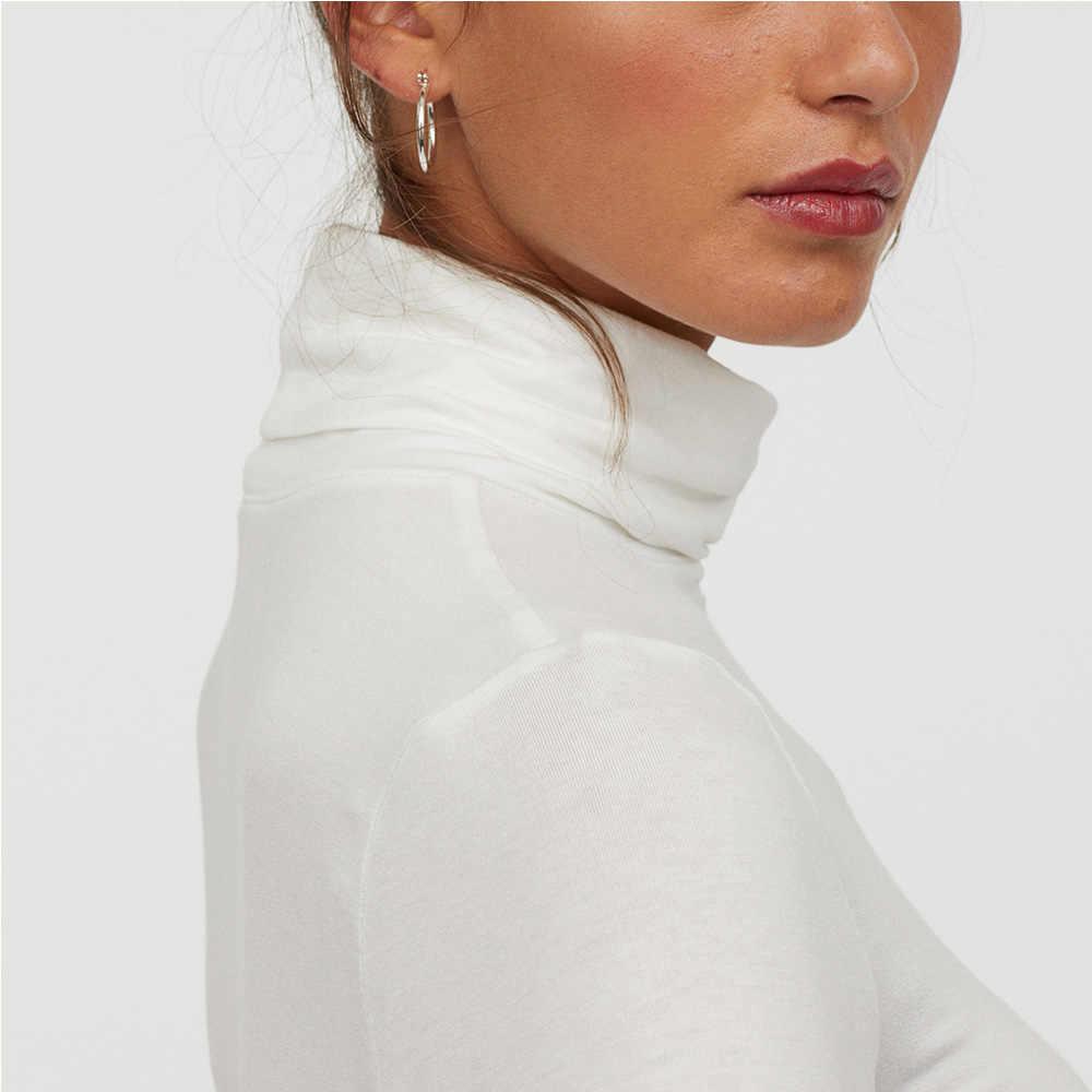 Водолазка футболка с длинным рукавом женская черная белая Эстетическая Мягкая тонкая Angel Vogue рождественские друзья базовые футболки топы для девочек-подростков