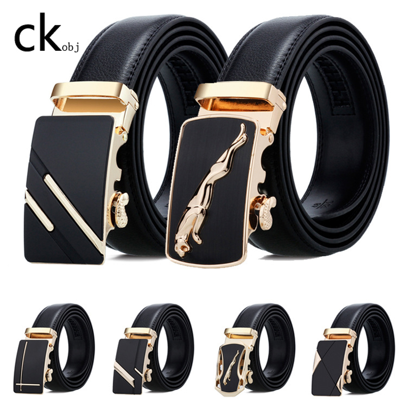 2020 Automatic Buckle Men Belt Double-sided Scratch Resistant Youth Belt Men's Real Leather Belt Double-sided Real Leather Belt